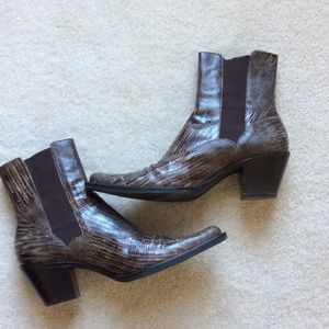 Franco Sarto Leather Boots Size 7.5